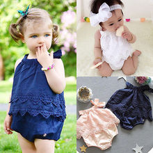 Baby Girls Sleeveless Romper Outfit Clothes 0-18M