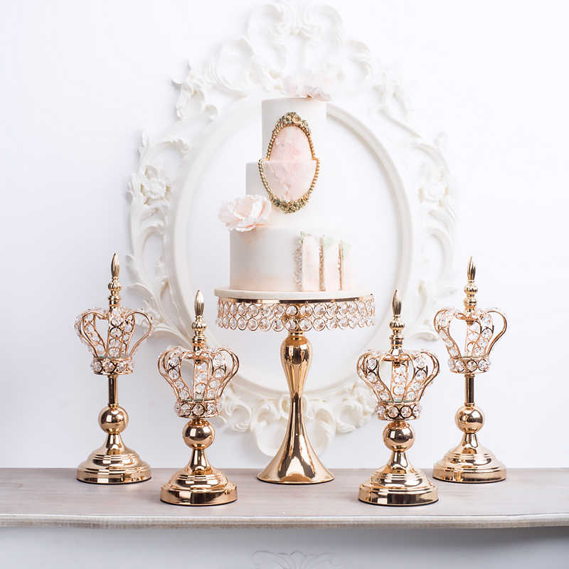Home Crafts Ornament Luxury Wedding Candlestick Lace Crown Candle