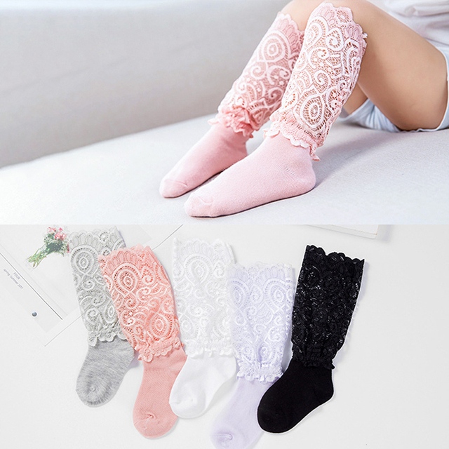 Princess Style Toddler Long Socks Hot Sale Lace Knee Socks Girls Beauty Summer Socks for Girls Baby Dresses Clothes Accessories