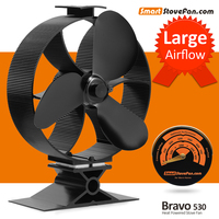 2017 New Heat Powered Stove Fan Circulate Heat 300 Cubic Feet Minute Eco Fan Wood Stove