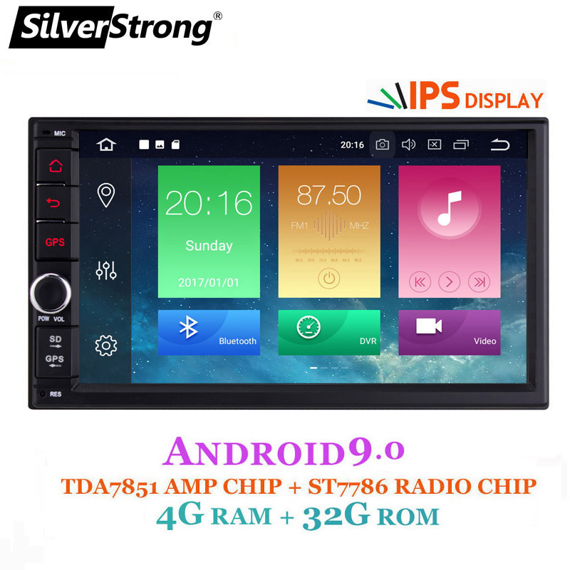 IPS Android9.0 universel 2din voiture DVD OctaCore 4G 32G DSP Double DIN voiture GPS Autoradio TPMS SilverStrong 706x30-x5