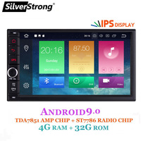 SilverStrong IPS Android9.0 Universal 2din Car DVD OctaCore 4G 32G DSP Double DIN Car GPS Radio Autoradio TPMS 706x30 x5