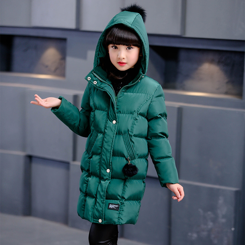 Mioigee Winter jacket for girls clothesHooded Kids Coat 2017 Autumn Children clothing  Cotton Padded  girl Jackets & Coats
