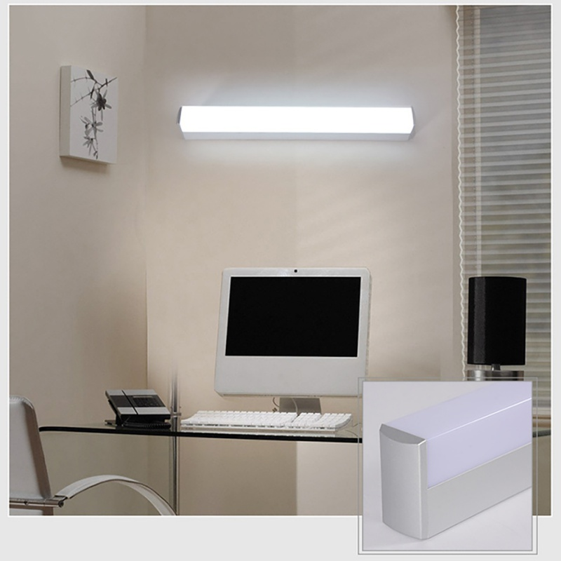 Modern Minimalist LED Metal Wall Lamp Bedside Lamp Corridor Aisle Mirror Bathroom Light White 12W 16W 22W modern minimalist waterproof antifog aluminum acryl long led mirror light for bathroom cabinet aisle wall lamp 35 48 61cm 1134