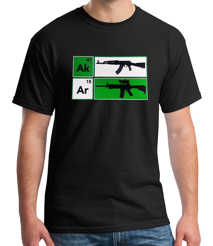 7041152e 2018 Fashion Hot Sale AK47 AR15 Riffle Adult's T-shirt NRA Cool Gun Defense  Tee