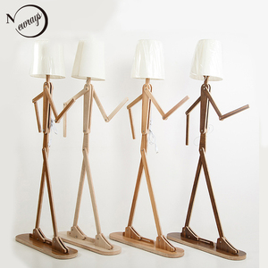 Nordic modern minimalist creative humanoid floor light E27 220V LED personality floor lamp for bedroom parlor hotel office study(China)