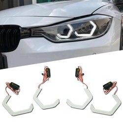 7000K fondo cuadrado blanco LED Ojos de Ángel Halo anillos con protector de vidrio para BMW E90 E93 F30 F35 F10 F18 faro retroajustable