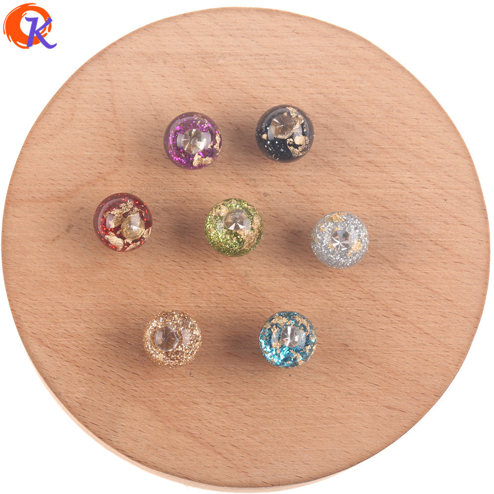 Cordial Design 12MM 20MM Jewelry Accessories/Resin Beads/Rhinestone And Powder In Beads/DIY Making/Hand Made/Earrings Findings
