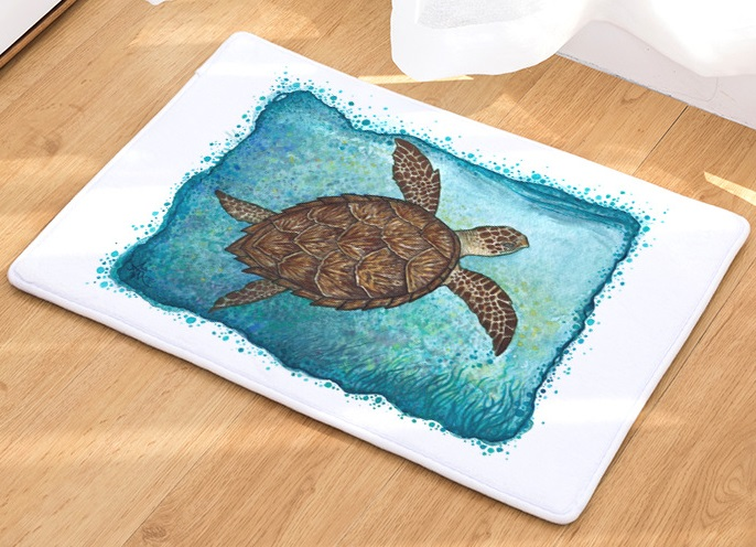 Image 3 - CAMMITEVER Sea Turtle Animal Carpet Hallway Welcome Floor Mats Tapete Rug Print Bathroom Kitchen Carpet House Home Doormats-in Rug from Home & Garden