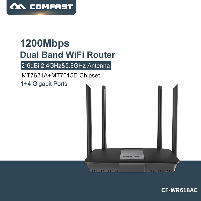 Comfast 5ghz Wifi router 1200mbps Wlan WiFi Repeater Wireless 802.11ac high power wifi extender 4*6dbi antenna Wifi amplifier