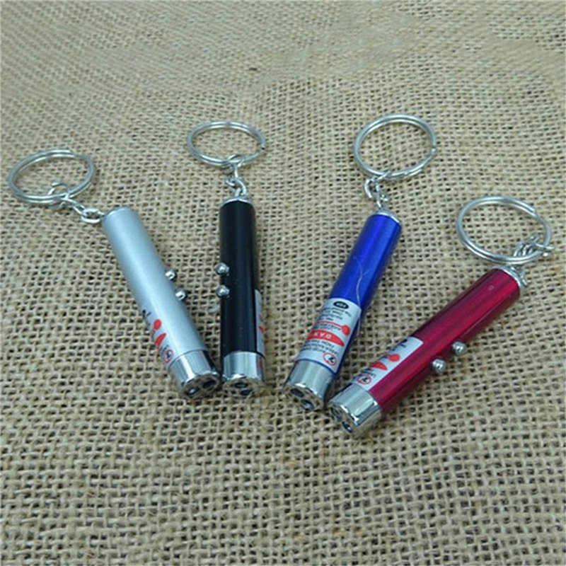הגעה חדשה מיני נייד לייזר led פנס עם 5 צבע לייזר עט מצביע פנס לפיד 5MW חירום פנס