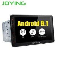 JOYING 4+32GB 2din Car Radio HD 8'' Touch Screen Android 8.1 Universal Octa Core Intel stereo with Bluetooth GPS Carplay RCA SWC