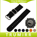 24mm Nylon Watchband for Suunto TRAVERSE Watch Band Zulu Strap Fabric Wrist Belt Bracelet Black Blue Brown + Tool + Spring Bars