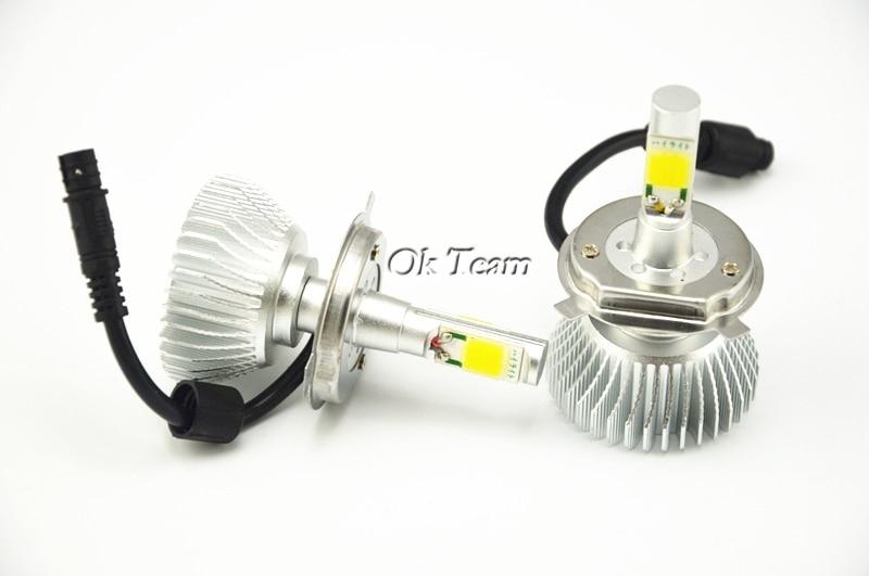 2x Kit de Conversion de phares 40 w 6000 K H4 12 V/24 V tête de voiture xénon blanc phare lampe haute basse Kit Globes ampoules phare LED