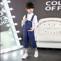 2018 Wiosna Dziewczyny Moda Dla Dzieci Dzieci Dorywczo Ubrania Malucha Spodnie Jeansowe Ogrodniczki Romper Dziewczyna Denim Jeans Jumpsuit