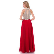 Elegant  Long Evening Dresses With Beading Floor Length