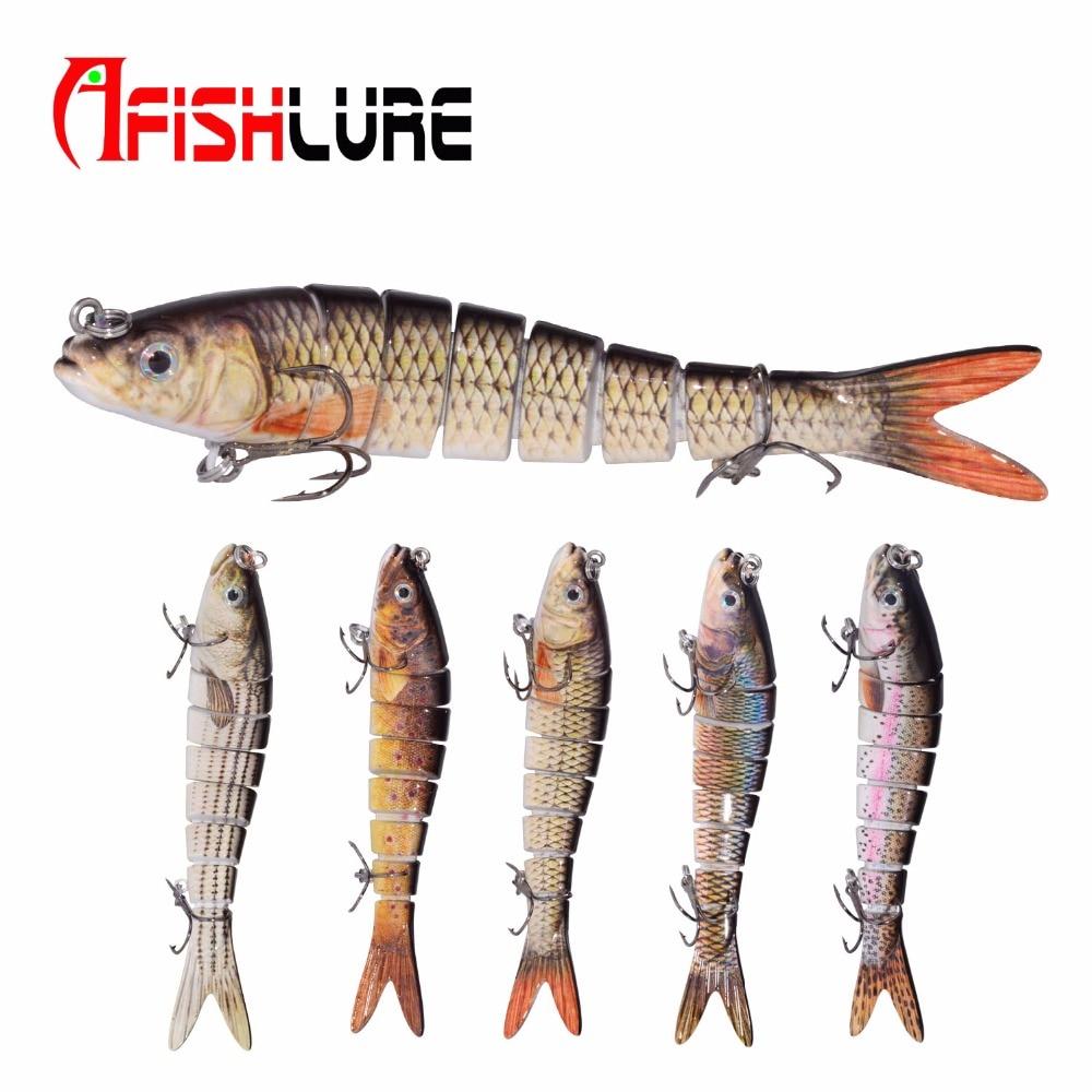 Afishlure 8 Abschnitte Fest Locken 138mm 27g Lebensechte Fischen Lockt 3D Augen Pesca Segmentiert Isca Künstliche Köder Hart köder Minnow