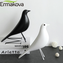ERMAKOVA The Mid Century Bird Figurine House Bird Animal Statue Dove of Peace European Mascot Home