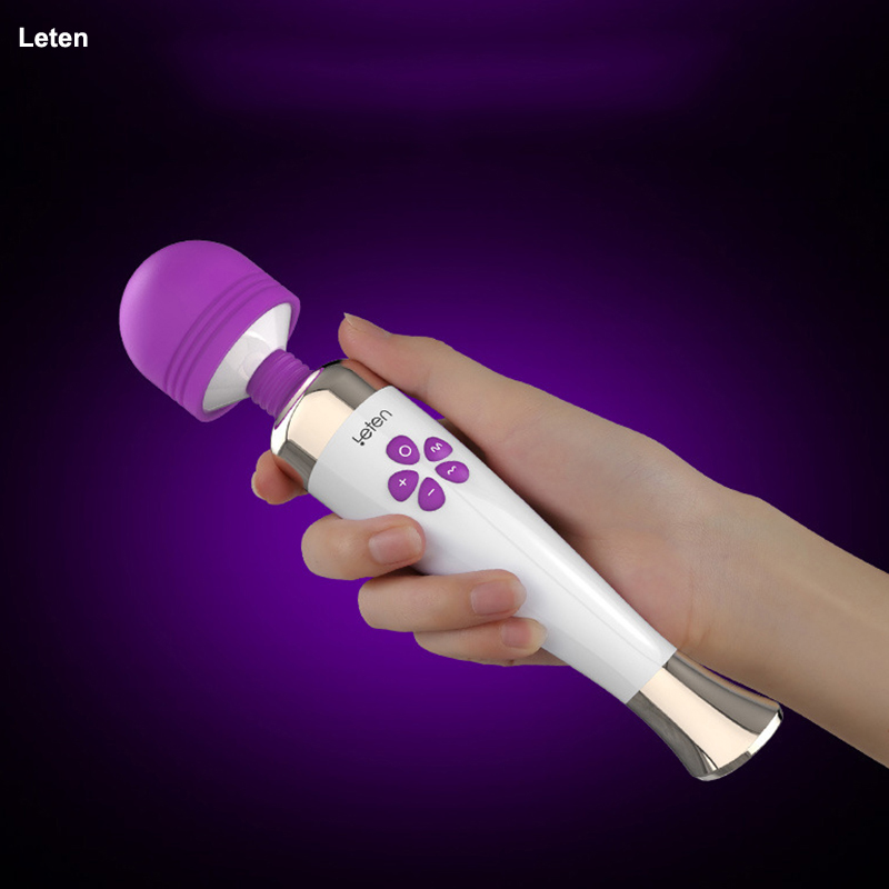 Leten Vibrators for women G spot Rabbit vibrator Sex toys for woman 10 Mode 7 Speeds Magic wand clitoris stimulator Erotic toys new multi speeds g spot vagina clitoris vibrator 360 rotating oral licking vibrator sex toys for woman couples sex products