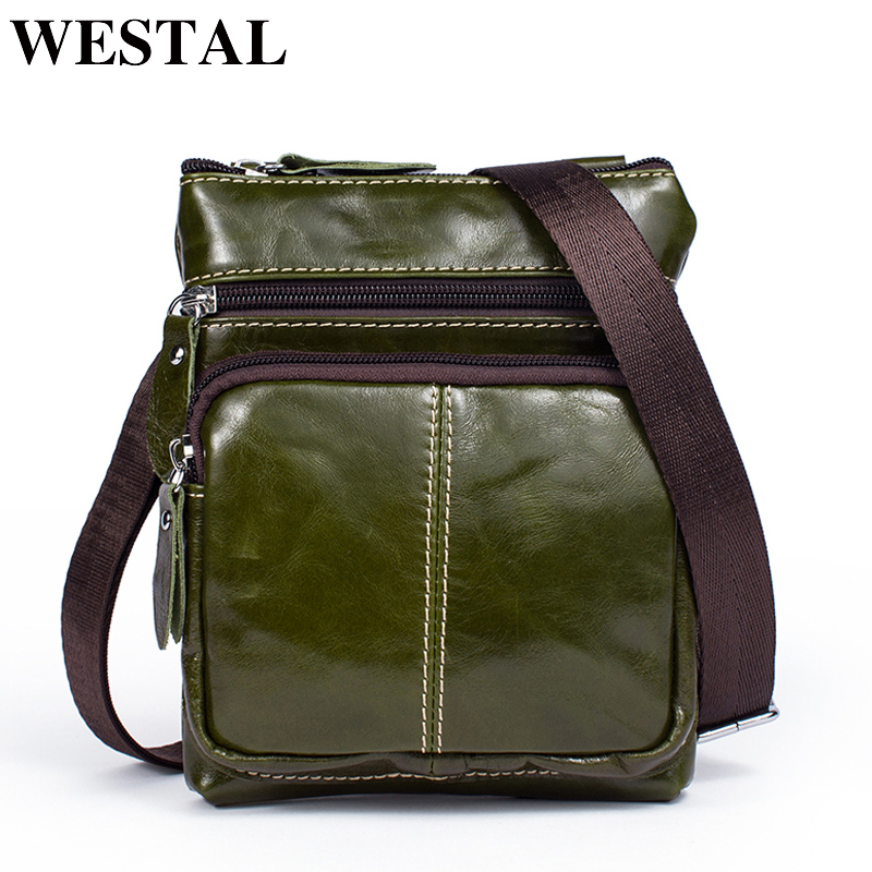WESTAL Women Bags ladies Genuine Leather woman messenger bag women's Shoulder Bag Female Small Flap Crossbody Bags for women 701 2018 summer embroidery pu leather women messenger bags small women bag female shoulder crossbody bag floral flap s1007