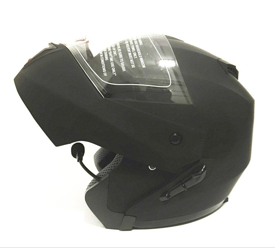 Built-in Bluetooth di Nuovo modo di doppia lente flip up casco del motociclo motocross fronte pieno del casco racing casco S M L XL XXL