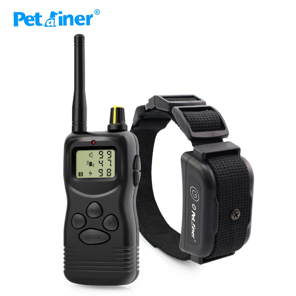 Petrainer 1000m 900B-1 Rechargeable And Waterproof Remote Shock Collars For Dog Training Vibrate & Electric Shock Collar
