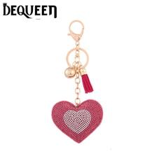 5 цветов сердце любовь брелок горный хрусталь брелок автомобиль Для женщин сумка Шарм Подвеска Брелок Jewelry 1 шт./лот