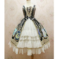 New Lolita JSK Dress Sweet Crystal Rabbit Series Chiffon Dress By Yiliya