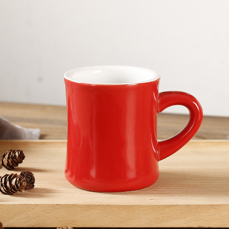 360 Ml Customized Logo Heavy Weight Ceramic Coffee Mugs Mocha Mug Garland Colorful Cup Collection In From Home Garden On Aliexpress