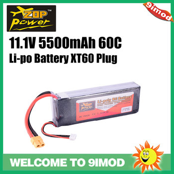 цена на ZOP Power 11.1V 60C 5500mAh 3S Lipo Battery XT60 Plug replacement battery for RC Racing Car Quadcopter  Drone
