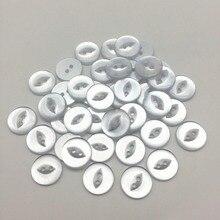 100 шт 12,5 мм/15 силиконовый пирсинг для носа жемчуг рыбий глаз смолы кнопки круглые Швейные аксессуары украшения 2 отверстия