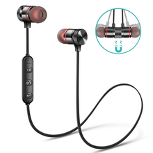 Sport Magnetic Bluetooth Earphone Wireless Headphone Stereo Bass Wireless earbuds bluetooth headset with Mic For iPhone Xiaomi