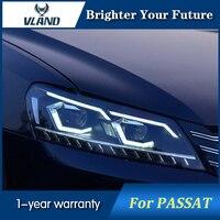 VLAND Автомобильный свет для VW Passat B7 США Версон фар 2012 2016 Водонепроницаемый фары DRL динамический сигнал поворота Hid Xenon луча