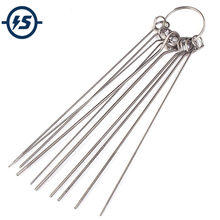 10 Kinds Stainless Steel Needle Set PCB Electronic Circuit Through Hole Needle Desoldering Welding Repair Tool 80mm 0.7-1.3mm(China)