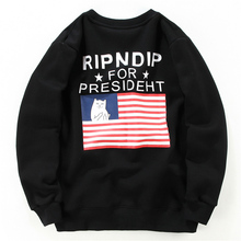 RIPNDIP HOODIE Thick Plus Velvet Cheap Cat Vertical Middle Finger HOODIES Men Autumn&Winter Coat Mens HOODIES and Sweatshirt