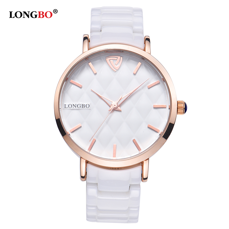 LONGBO 2017 offre spéciale femmes montres de luxe étanche en céramique Quartz montre dames relojes mujer montre-bracelet cadeaux femme 80050