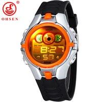 High Quality 2014 OHSEN Brand New Fashion Generous Digital Sport Diving Waterproof Children Watches Orange Free