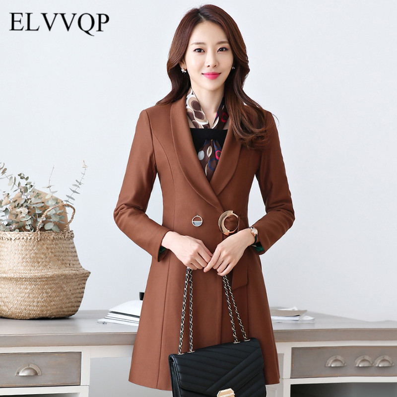 Slim Korean Long Sleeve Wool Coats Plus Size 4XL Winter Coat Women Woolen Coats Abrigos Mujer Invierno 2018 Cashmere Overcoat
