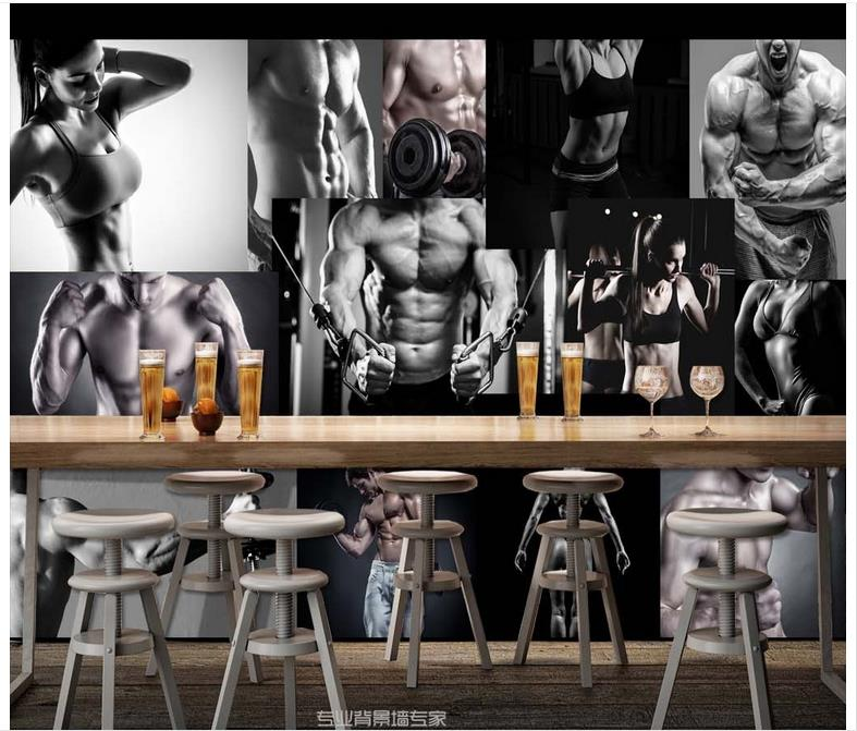 Us 11 79 55 Off High Quality Hot Sale New Custom 3d Murals Wallpaper Hd Sport Gyms Handsome Beauty Photo Background Wall Paper Room Wallpaper In