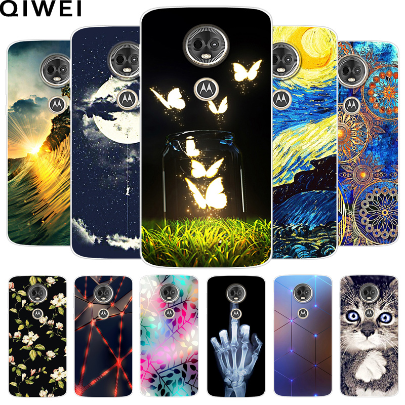 for Motorola E5 Plus Case e5 Play Silicone Soft TPU Fashion Phone Cover For Moto E 5th Gen Fundas Coque e 5 Play Cases e5Plus