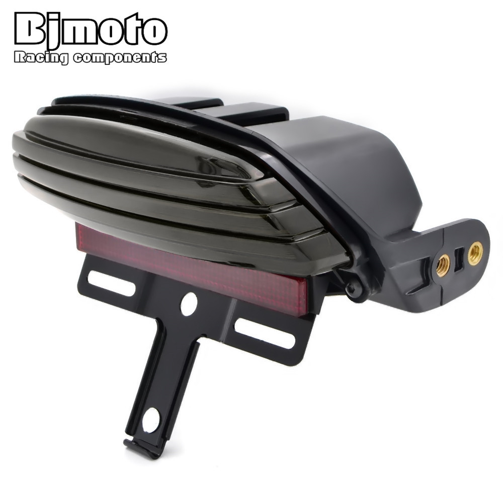 BJMOTO Taillight For Harley Dyna FXDF Fat Bob Motorcycle Smoke Tri-Bar Rear Fender Brake Tail LED Lamp Lighting Bracket MountBJMOTO Taillight For Harley Dyna FXDF Fat Bob Motorcycle Smoke Tri-Bar Rear Fender Brake Tail LED Lamp Lighting Bracket Mount
