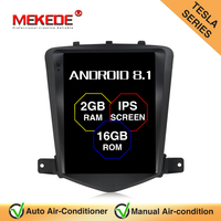 MEKEDE Tesla Style Android 8.1 Car Radio GPS Navigation DVD Player Stereo Headunit for Chevrolet Cruze 2008 2011 2G RAM 16G ROM