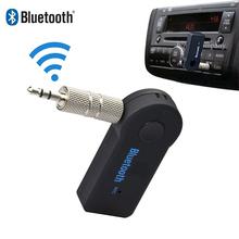 Bezprzewodowy stereofoniczny zestaw słuchawkowy Bluetooth odbiornik samochodowy Mini Bluetooth odbiornik Audio Aux do słuchawek odbiornik gniazdo zestaw głośnomówiący tanie tanio 3 5mm Podwójne Brak Music Audio Bluetooth Transmitter Receiver Adapter OGmeas Handfree Bluetooth Bluetooth Jack support