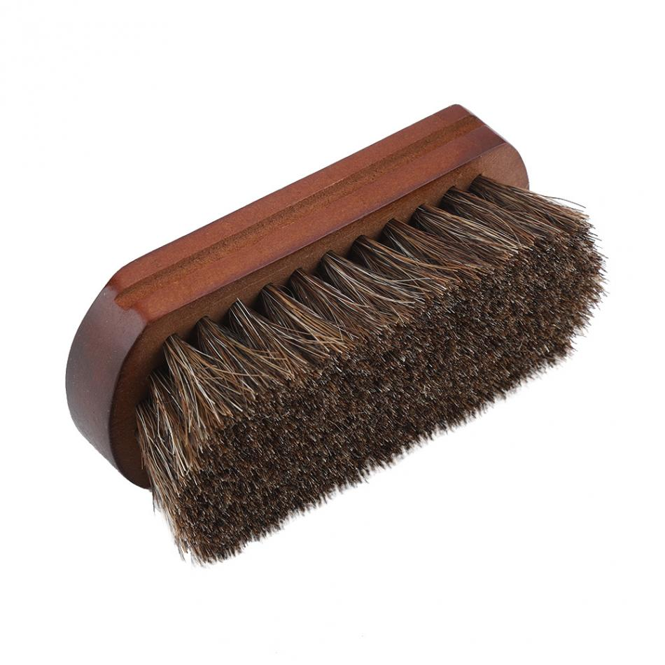 US $2 31 40% OFF 10cm Horsehair Shoe Shine Brushes with Horse Hair Bristles  for Boots, Shoes Leather Care Cleaning Brush For Suede Nubuck Boot-in Shoe