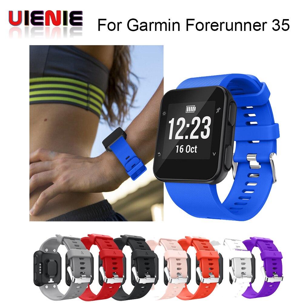 UIENIE Replacement Wristband Watch Band Wrist Strap Silicagel Soft Band Strap For Garmin Forerunner 35 Watch Drop Shipping