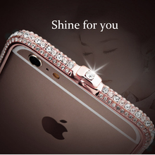 Luxury fashion Rhinestone Frame Case for iPhone 6 6s 7 8 iphone plus Glitter xr xs max Metal Diamond