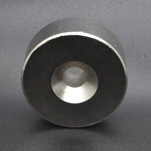 1 шт. 50*20 мм NdFeB подъемное Кольцо Магнит Dia. 50x20 мм с винтовым потайным отверстием M10 10 мм неодимовый редкоземельный постоянный магнит