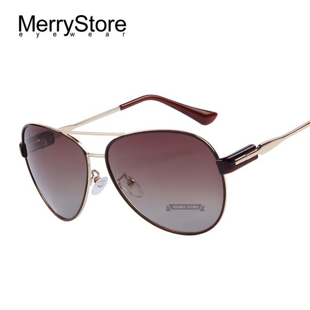MERRYSTORE Fashion Women Polarized Sunglasses Brand Designer Alloy Frame Gradient Sun Glasses UV400 Lens