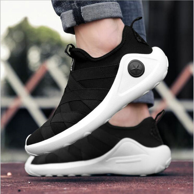 b38685434 Summer Autumn Men Breathable Mesh Fly fabric Sneakers Male Outdoor 2018  Light Trainers Mens casual Sneakers Low Shoes HH-23