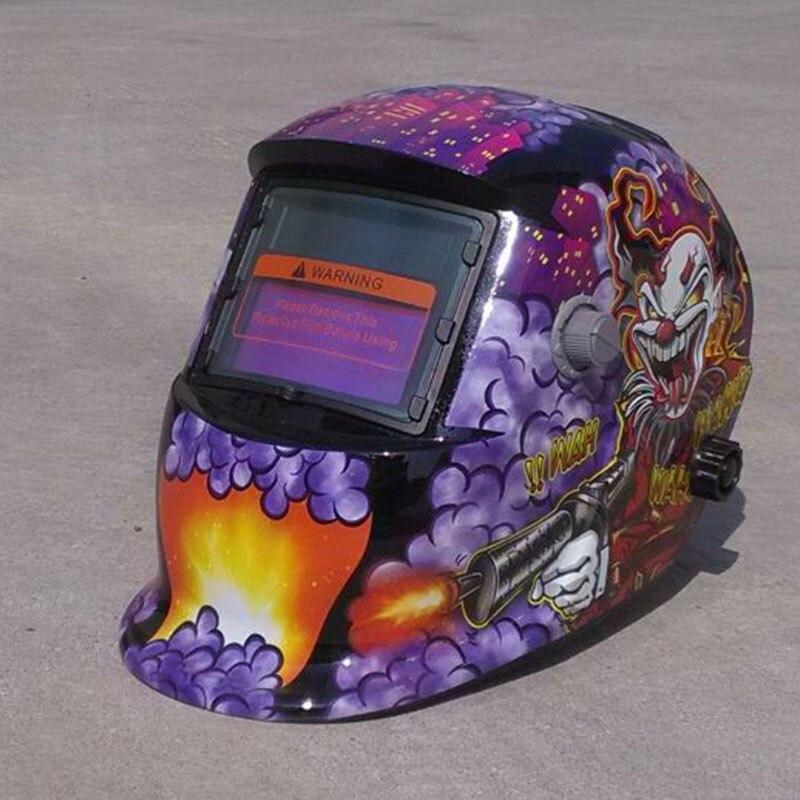 Solar Power Auto Darkening Welding Welder Grinding Helmet Mask Hood Protector